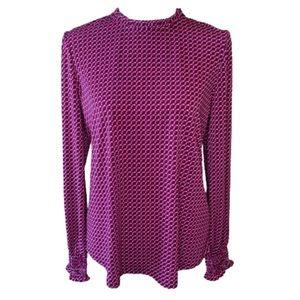 Adrianna Papell stretch dressy print blouse